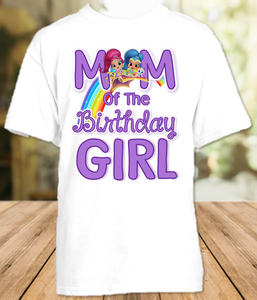 Shimmer and Shine Birthday Party Personalized Mom Mommy Mother T Shirt - All Sizes - SGMS1