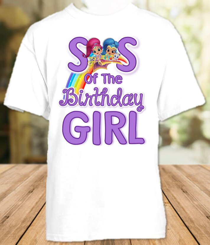 Shimmer and Shine Birthday Party Personalized Sibling Sister T Shirt or Onesie - All Sizes - SGSS1