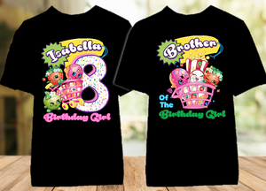 Shopkins Birthday Party Personalized Color T Shirt - 2 Pack - SHOC2P