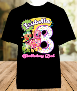 Shopkins Birthday Party Personalized Color T Shirt - All Sizes - SHOCS1
