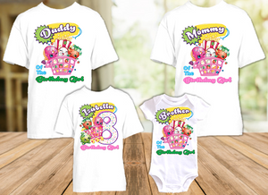Shopkins Birthday Party Personalized T Shirt or Onesie - 4 Pack - SHO4P