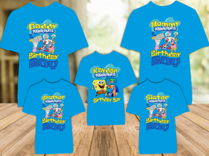 SpongeBob SquarePants Birthday Party Personalized Color T Shirt - 5 Pack - SBC5P