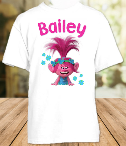 Trolls Poppy Party Personalized T Shirt or Onesie - All Sizes - TPPS1