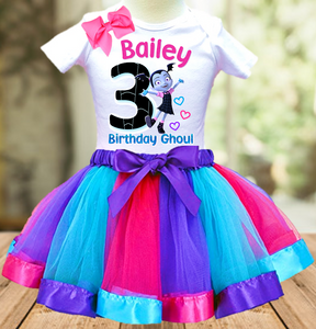 Vampirina Birthday Party Personalized Ribbon Tutu Outfit - All Sizes - VTO01