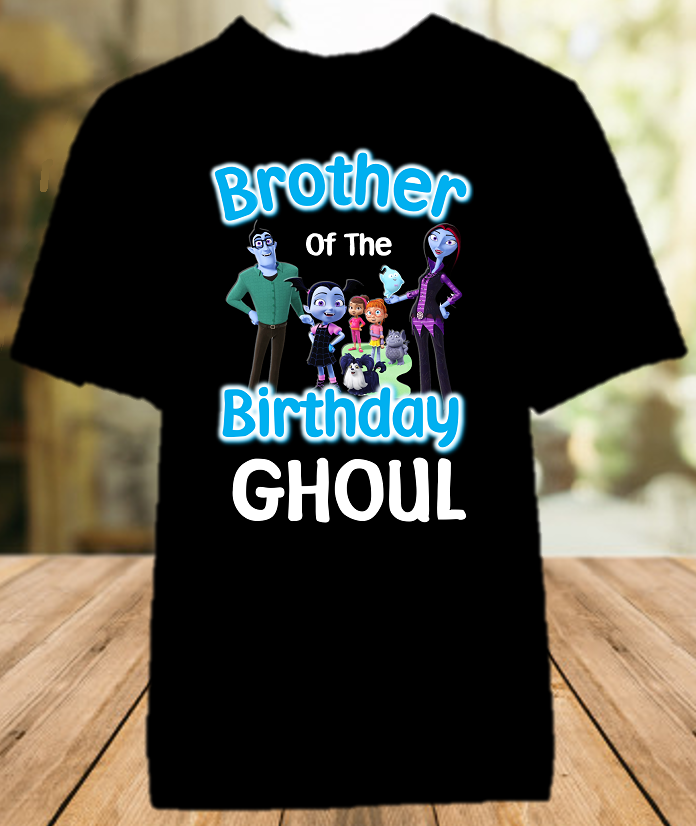 Vampirina Birthday Party Personalized Sibling Brother Color T Shirt - All Sizes - VBCS1