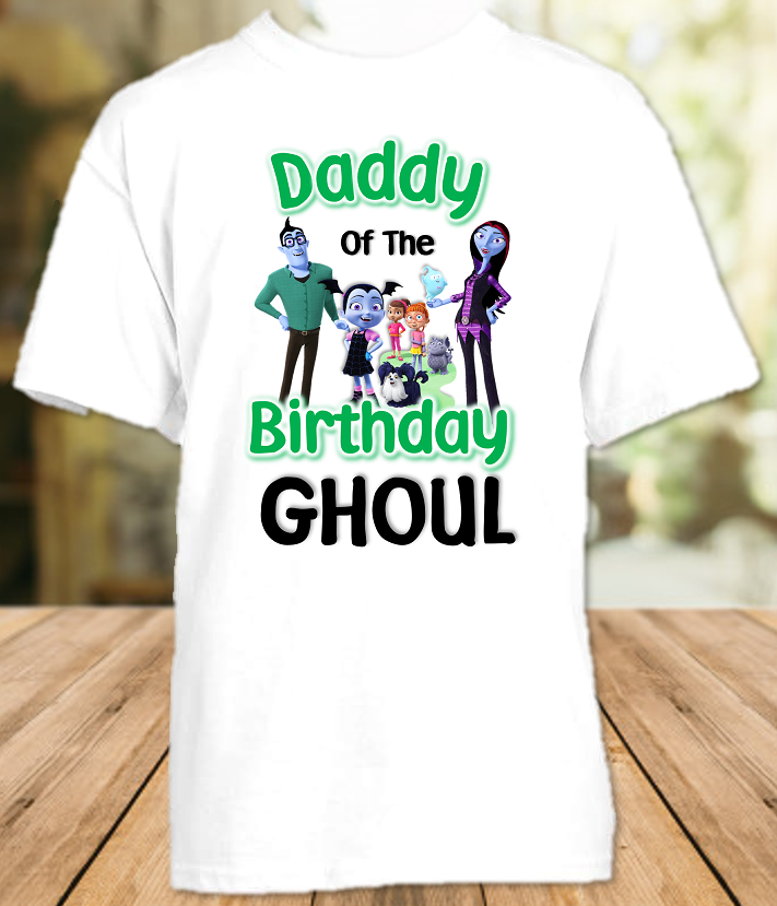 Vampirina Birthday Party Personalized Dad Daddy Father T Shirt - All Sizes - VDS1