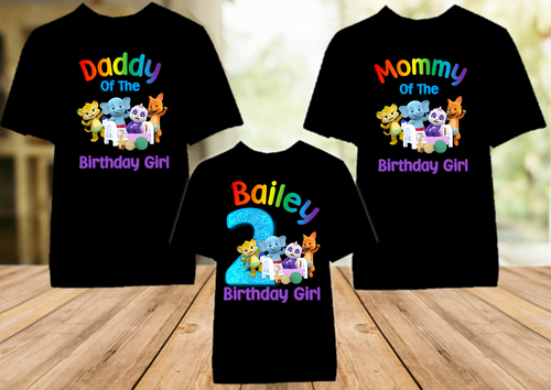Word Party Birthday Party Personalized Color T Shirt - 3 Pack - WPC3P