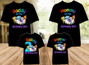 Word Party Birthday Party Personalized Color T Shirt - 4 Pack - WPC4P