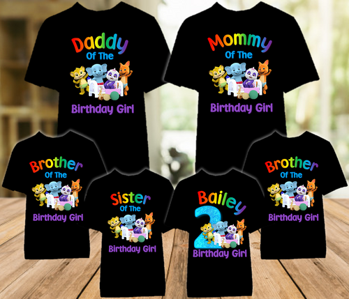 Word Party Birthday Party Personalized Color T Shirt - 6 Pack - WPC6P