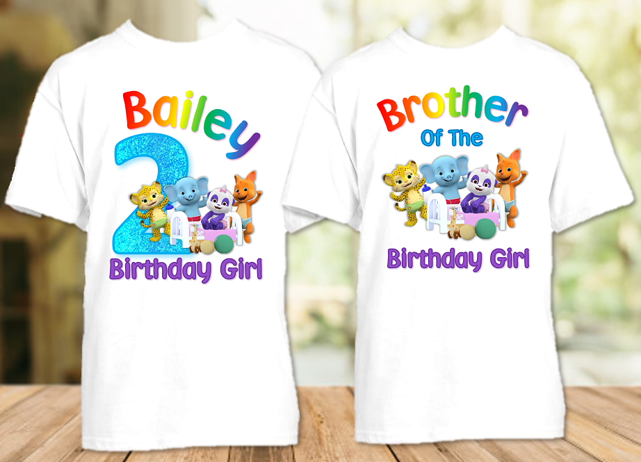Word Party Birthday Party Personalized T Shirt or Onesie - 2 Pack - WP2P