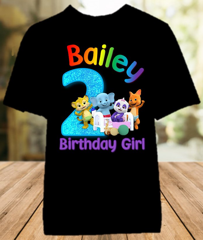 Word Party Birthday Party Personalized Color T Shirt - All Sizes - WPCS1