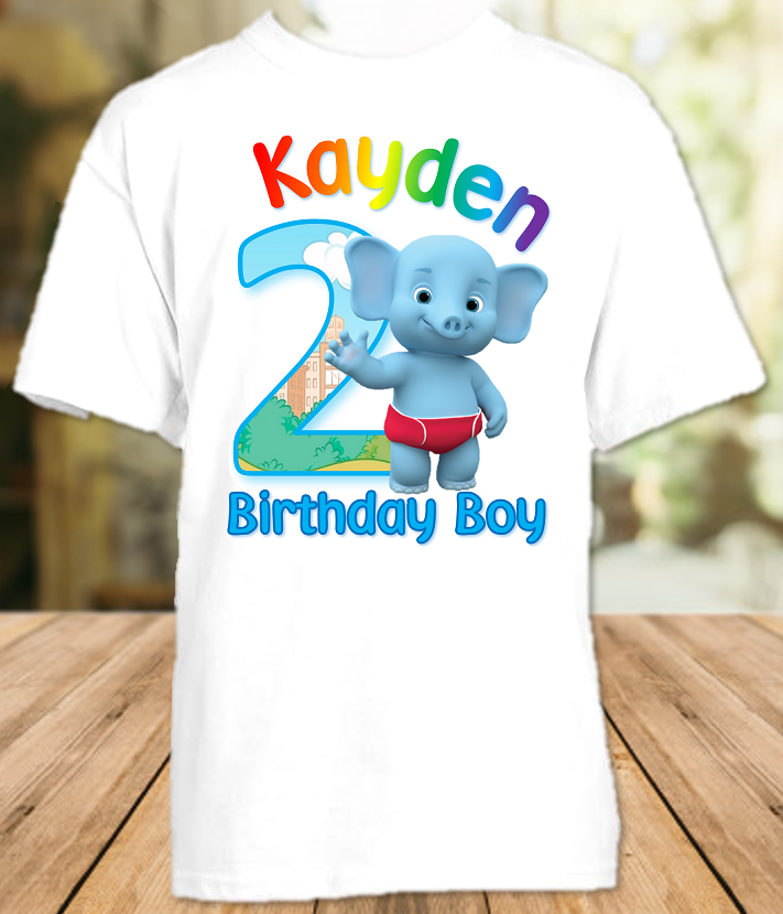 Word Party Bailey Elephant Birthday Party Personalized T Shirt or Onesie - All Sizes - WPBS1