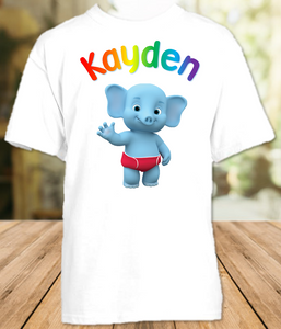 Word Party Bailey Elephant Party Personalized T Shirt or Onesie - All Sizes - WPBPS1