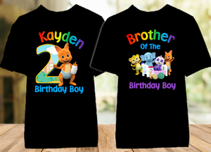 Word Party Kip Wallaby Birthday Party Personalized Color T Shirt - 2 Pack - WPKC2P