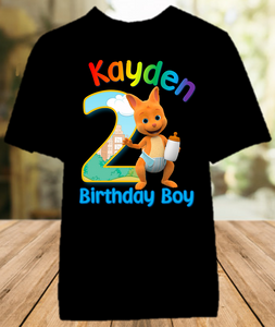 Word Party Kip Wallaby Birthday Party Personalized Color T Shirt - All Sizes - WPKCS1