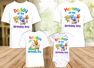 Word Party Kip Wallaby Birthday Party Personalized T Shirt or Onesie - 4 Pack - WPK4P