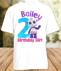 Word Party Lulu Panda Birthday Party Personalized T Shirt or Onesie - All Sizes - WPLS1