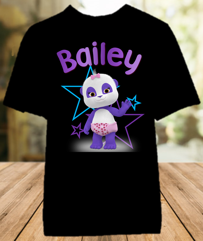 Word Party Lulu Panda Party Personalized Color T Shirt - All Sizes - WPLPCS1