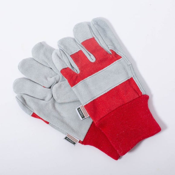 Kids Rigger Gloves - Age 3-7 (red and grey)