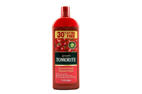 Levington Tomorite Concentrated Tomato Food 1.3 Litre Seaweed Extract Extra Free