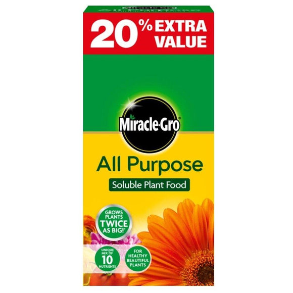 Miracle-Gro All Purpose Plant Food 1kg + 20% free