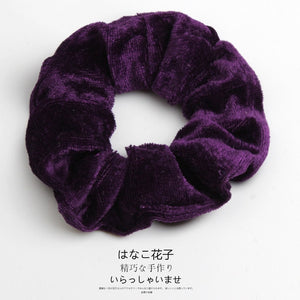 Woman Velvet Scrunchies Solid Hair Ring Ties For Girls Ponytail Holders Rubber Band Elastic Hairband Hair Accessories Headwear