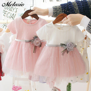 Melario Newborn Baby Girl Dress for Girl 1 Year Birthday Dress Fashion Cute Princess Baby Dress Infant Clothing Toddler Dresses