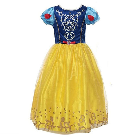 Girls Snow White Dress Kids Princess Dress Up Costumes Toddler Snow White And Huntsman Fancy Clothing Christmas Party Outfits