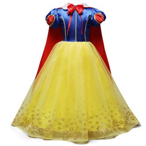 Image of Girls Snow White Dress Kids Princess Dress Up Costumes Toddler Snow White And Huntsman Fancy Clothing Christmas Party Outfits