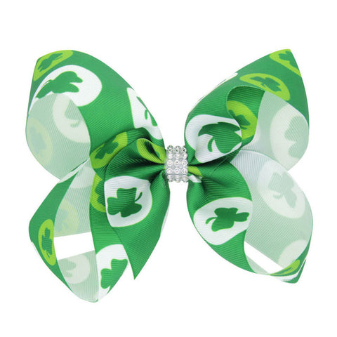 Big Bows Hairpins for girls St Patricks Day Hair Bows Children Holiday Hair Clips Girls Hair Accessories Little girls Hairbow