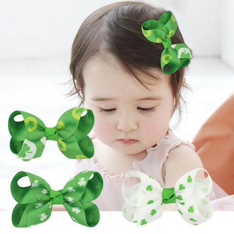 Clover Hairpin Hair Clip Headdress Green Clover St Patricks Day Party Cosplay Accessories Lovely Headwear Gift Headband Lucky