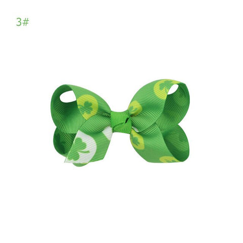 Image of Clover Hairpin Hair Clip Headdress Green Clover St Patricks Day Party Cosplay Accessories Lovely Headwear Gift Headband Lucky