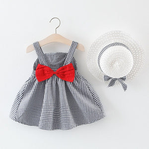 Melario Children's Clothing Baby Girl Clothes Summer Party Clothing for Girls Dress Cherry Dot Princess Dresses Bow Hat Outfits