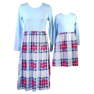 plaid mother daughter dresses for mommy and me matching clothes family look outfits mom girl dress vintage long mom christmas
