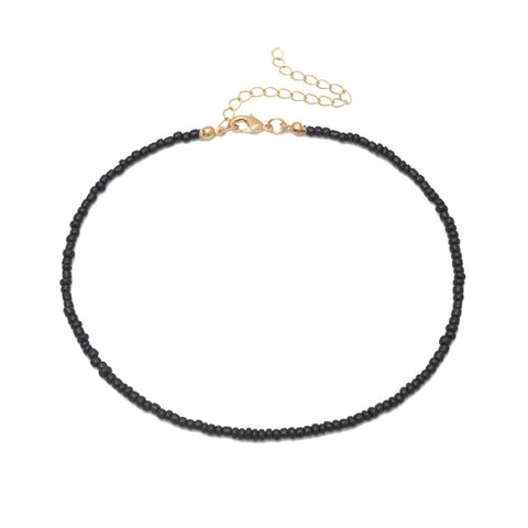 Image of 2019 New Boho Ethnic Vsco Girl Imitation Pearl Choker Necklace Female Cute and Simple Black Leather Cord Rope Necklaces Collares