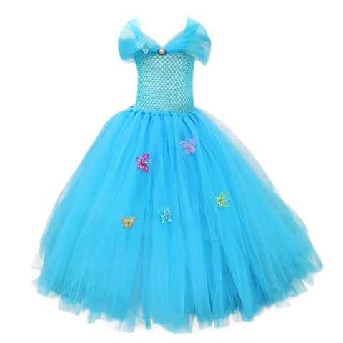Image of MUABABY Girl Toy Story Tutu Dress Children Summer Tulle Pageant Princess Party Outfit Halloween Rapunzel Elsa Anna Belle Costume
