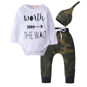Baby Boy Clothes 2019 Autumn Baby Girl Clothing Sets Newborn Cotton Printed Long Sleeved T-shirt+pants+cap Kids 3pcs Suit