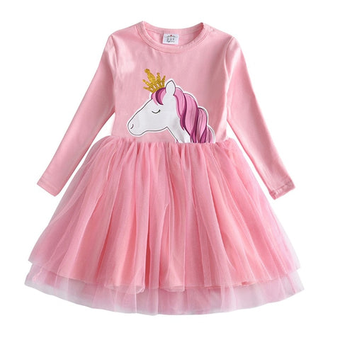 Image of Kids Autumn Winter Dresses for Girls Star Sequins Princess Dress Girls Long Sleeve Party Vestidos Baby Girl Children Clothing