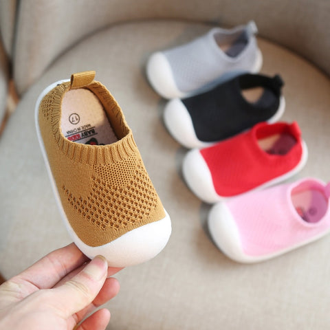 Image of 2019 Spring Infant Toddler Shoes Girls Boys Casual Mesh Shoes Soft Bottom Comfortable Non-slip Kid Baby First Walkers Shoes