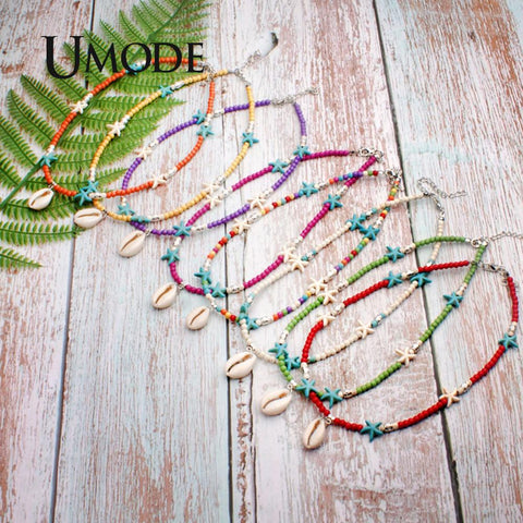 Image of UMODE Vsco Girl Thing Choker Boho Shell Necklace Star Pendants Fashion Statement Necklaces Women Accessories Free Shiping PN0686
