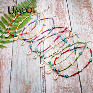 UMODE Vsco Girl Thing Choker Boho Shell Necklace Star Pendants Fashion Statement Necklaces Women Accessories Free Shiping PN0686