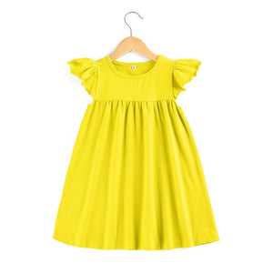 Summer Style Boutique Toddler Flutter sleeve Dress