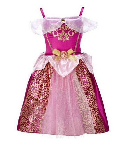 Girls Party Dress Kids Cinderella Snow White Halloween Costume Baby Girl Princess Dress Christmas Rapunzel Aurora Belle Dress