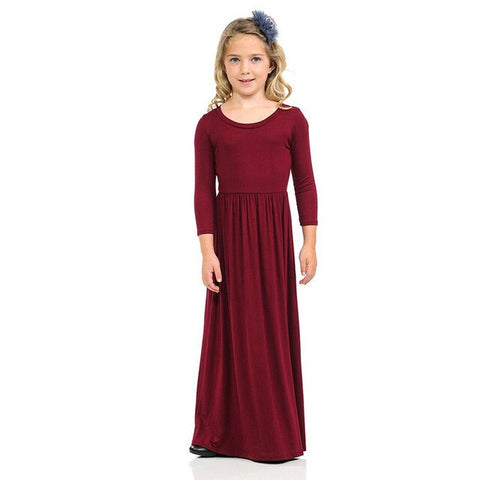 Princess Beach Dress Bohemian Maxi Dresses for Girls Floral Dresses Kids Long Sleeve Clothes Outfits Casual Party Clothing