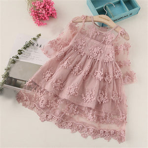 Vestidos Girls Summer Dress 2019 Brand Backless Teenage Party Unicorn Princess Dress Children Costume for Kids Clothes Pink 2-6T