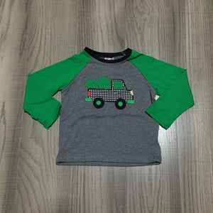 baby boy St Patrick clothes kids green sleeve raglans boys shirt with clover truck shirts