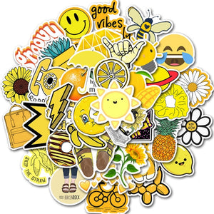 50 PCS Cartoon Simple VSCO Girls Kawaii Stickers For Chidren Toy Waterproof Sticker to DIY Laptop Bicycle Helmet Car Decals