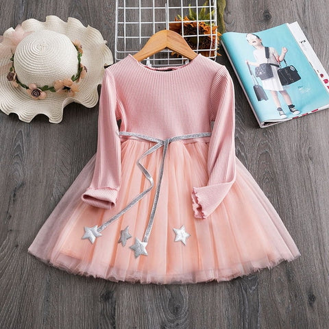 Image of Children Formal Clothes Kids Fluffy Cake Smash Dress Girls Clothes For Christmas Halloween Birthday Costume Tutu Lace Outfits 8T