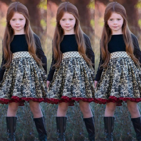Image of Girls Boutique Ruffled Plaid Dress 3-12