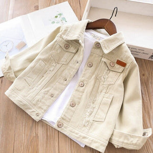 2020 spring girls denim jackets coats baby jeans outfit white pink kids clothing children outerwear casual boutiques